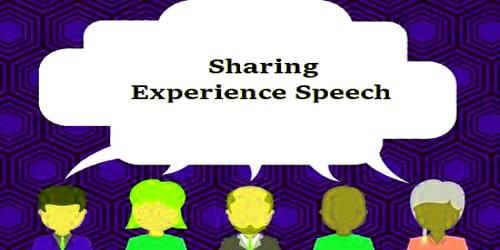 Sharing Experience Speech during the Internship