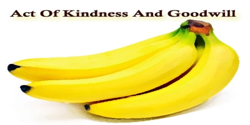 Act Of Kindness And Goodwill