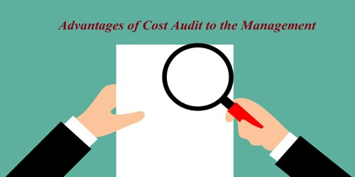 Advantages of Cost Audit to the Management