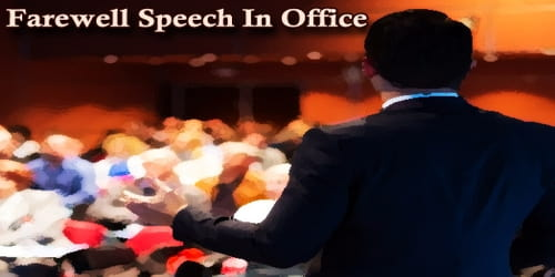 Farewell Speech In Office