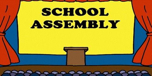 Speech during Morning School Assembly