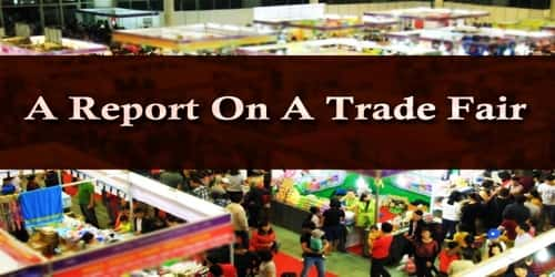 A Report On A Trade Fair Held At ………(City Name)