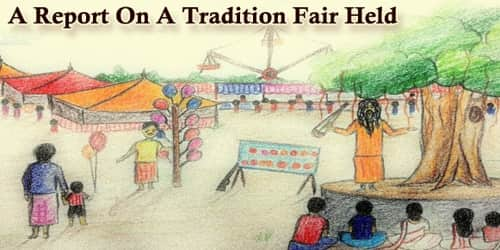 A Report On A Tradition Fair Held At (Area Name)……..Ground