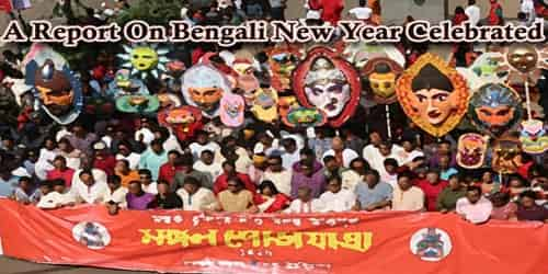 A Report On Bengali New Year Celebrated