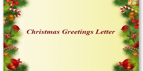 Christmas Greetings Letter
