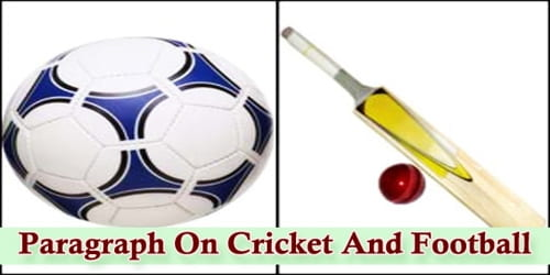 Paragraph On Cricket And Football
