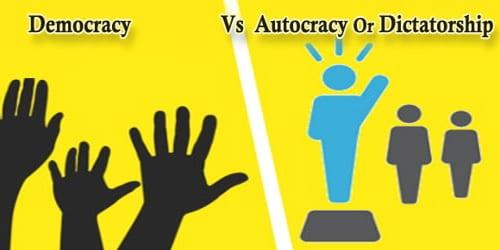 Paragraph On Democracy Vs Autocracy Or Dictatorship