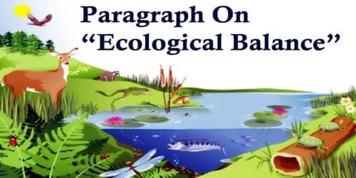 Paragraph On Ecological Balance
