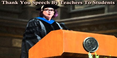 """Thank You Speech By Teachers To Students On """"Teachers' Day"""""""