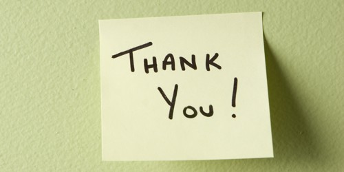 What is the Thank you Letter?