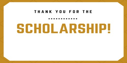 Thank you Letter for Scholarship