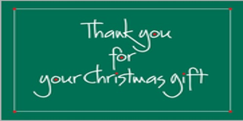 Thank You Letter To Gratitude For Christmas Gift Assignment Point