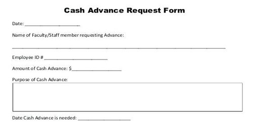 Sample Format for Advance Salary Application Form