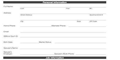 Sample Format Employee Biodata Form for Hiring