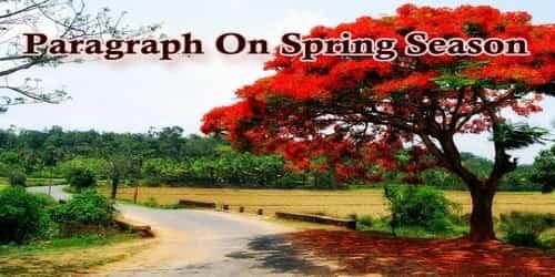 Paragraph On Spring Season