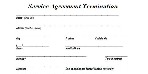 Sample Service Agreement Termination Letter Format