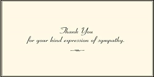 Sympathy Thank You Letter in any of unfortunate times faced by Someone