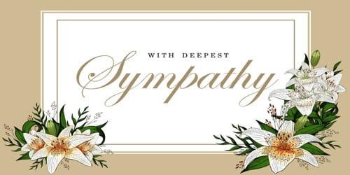 Sample Sympathy Letter Format