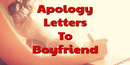 Apology Letter to Boyfriend for the mistakes