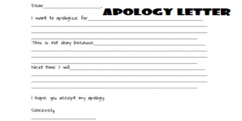 Sample Apology Letter Formats