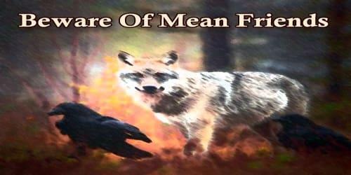 Beware Of Mean Friends