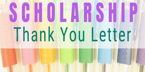 Sample Thank You Scholarship Letter Format