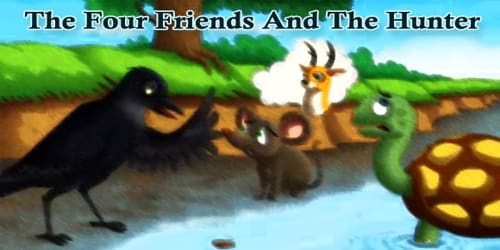 The Four Friends And The Hunter