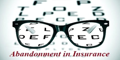 Abandonment in Insurance Contract