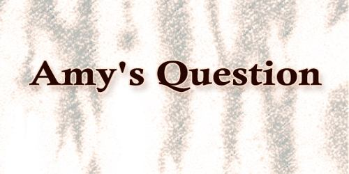 Amy's Question