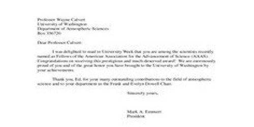 Sample Congratulations Scholarship Letter Format