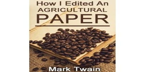 How I Edited an Agricultural Paper