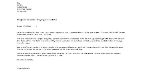 Promotional Sales Letter