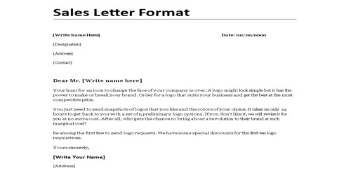 Sales Letter for Product Introducing
