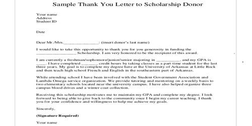 Sample Scholarship Acceptance Letter Format