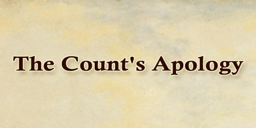 The Count's Apology