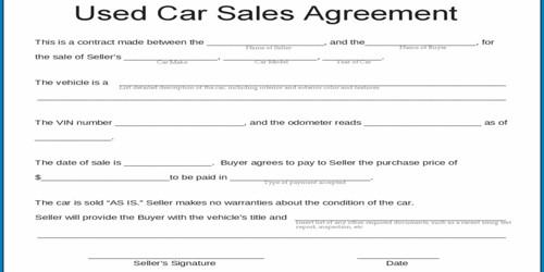 Sample Used Car Sales Letter Format