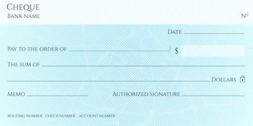 Bearer Cheque