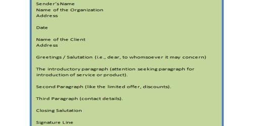 Sample Lost Customer Sales Letter Format
