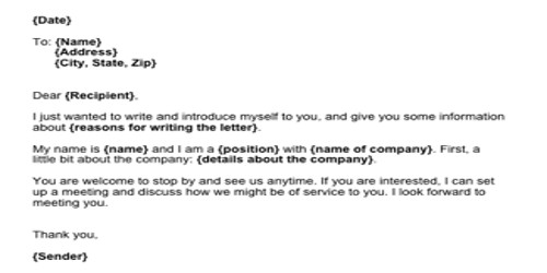Sample Sales Letters to Potential Client