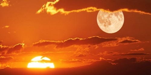 Bright Sun and Pale Moon