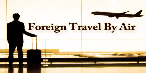Foreign Travel By Air