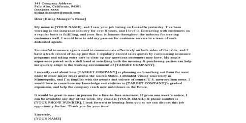 Sample Insurance Sales Letter Format