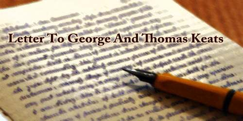Letter To George And Thomas Keats
