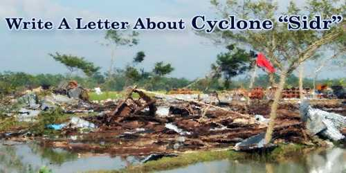 """Write A Letter About Cyclone """"Sidr"""""""