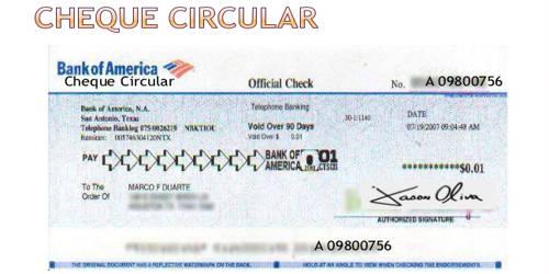 Circular Cheque