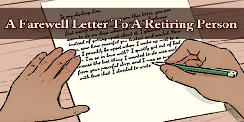 A Farewell Letter To A Retiring Person
