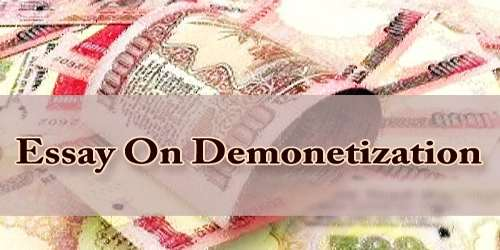 Essay On Demonetization