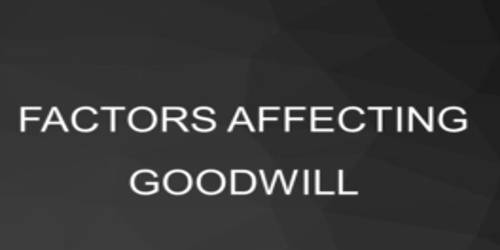 Factors that affecting Value of Goodwill
