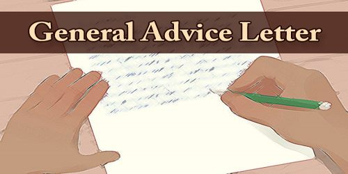General Advice Letter