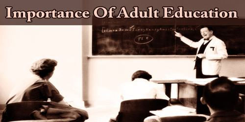 Importance Of Adult Education